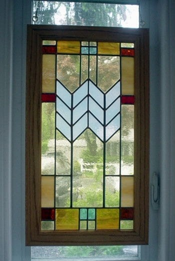Mission Style Leaded Glass Panel