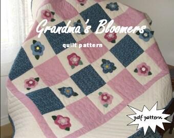 Grandma's Bloomers pdf quilt pattern