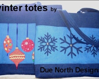Winter Totes Pattern - pdf