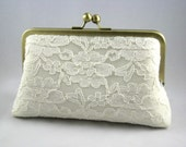 Lace Ivory Clutch - Brides