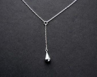 Sterling Silver Teardrop Necklace