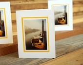 Morro Boats set of 3 blank note cards METALLIC