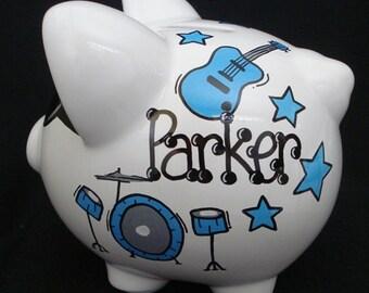 Personalized Rockstar Piggy Bank