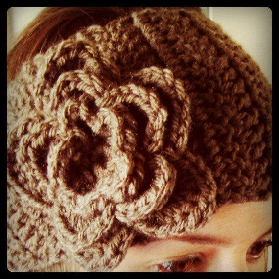 CUSTOM Crochet Flower Headband Ear Warmer by ...