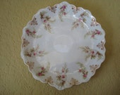 On Sale...Slightly Imperfect....Roses, Roses, Roses...Lovely Large Scalloped Charger Plate
