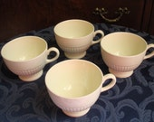 Wedgwood Edme Footed Teacups, No Saucers, Set of Four