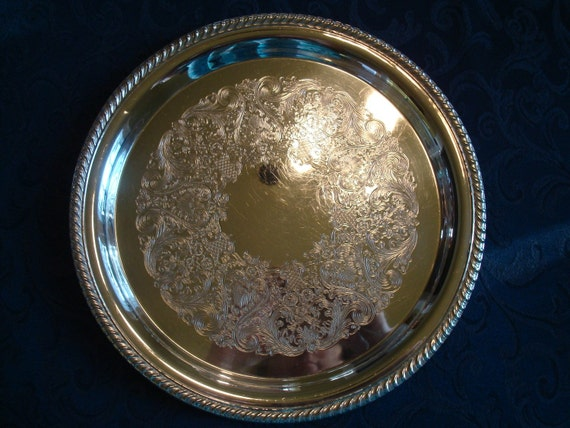 MOVING SALE...Tea Time Necessity....Handsome Silverplate Serving Tray....Wm Rogers