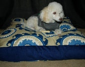 Funky Blue Swirl Dog Bed