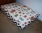 Chevron Owl Pet Bed