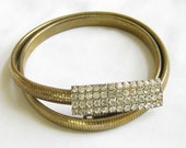 Vintage Pave Rhinestone Buckle Stretch Belt