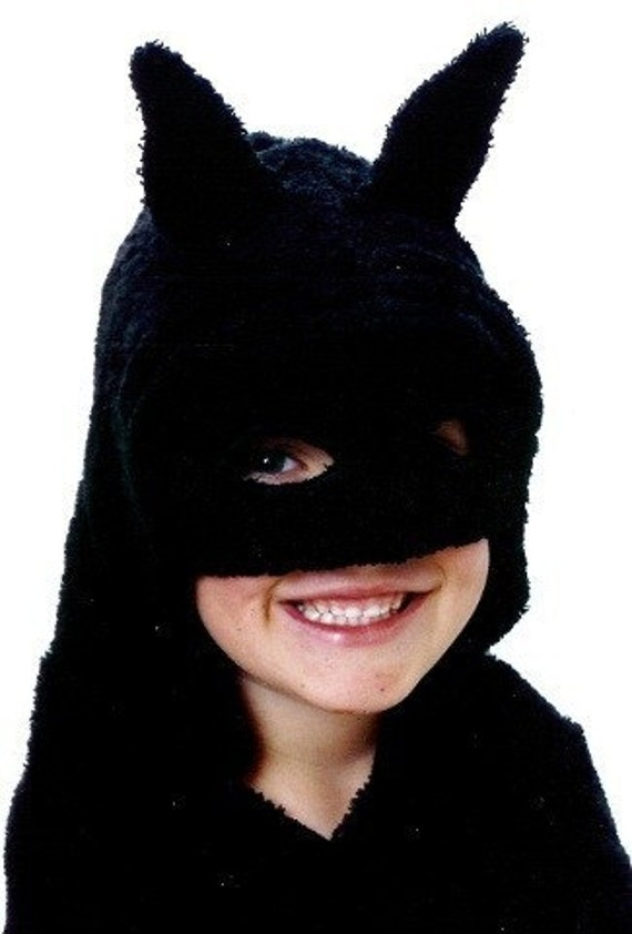 Handmade Black Mask Superhero Hooded bath towel