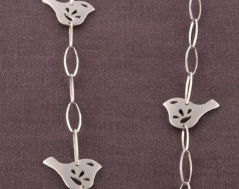 Petite Multiple Mod Jay Bird Chain Necklace