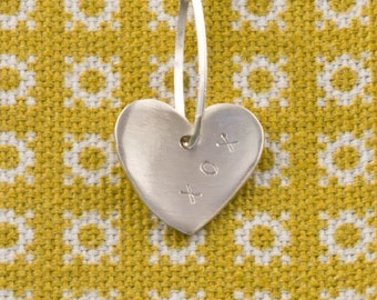 Valentines Day Heart Chain Necklace