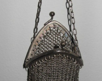 Antique German silver Chatelaine coin purse