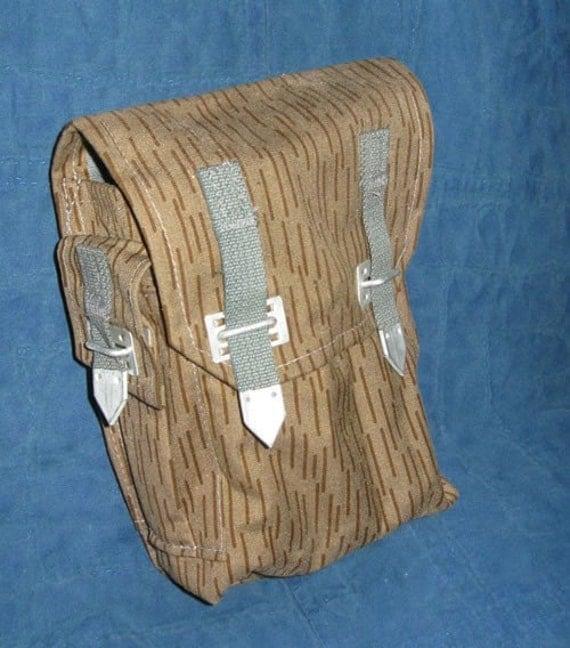 Vintage Milsurp ammo/ utility bag in East German Rain Camouflage