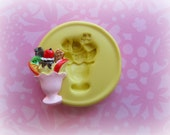 Ice Cream Sundae Mold Deco Sweets Kawaii Food Silicone Flexible Clay Resin Mould