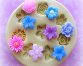 Tiny Flower Mold Daisy Rose Mold Flower Silicone Flexible Clay Resin Mould