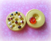Miniature Cake Donut Frosting Mold Silicone Clay Resin Mould