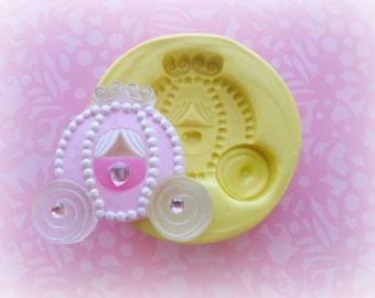 Carriage Mold Flower Silicone Flexible Clay Resin Mould