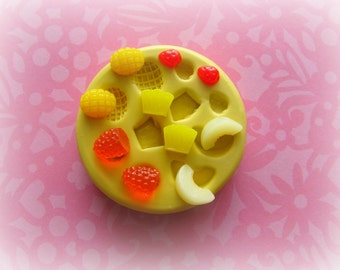 Fruit Berry Mold Raspberry Pear Kawaii Moulds Sweets Kawaii Food Silicone Flexible Clay Resin Mould