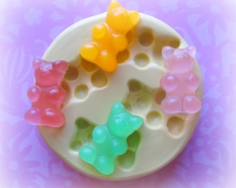 Gummy Bear Candy Mold Deco Sweets Kawaii Food Silicone Flexible Clay Resin Mould