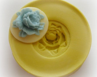 Rose Cameo Mold Flower Silicone Flexible Clay Resin Mould