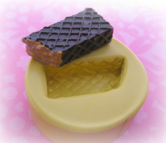 Kawaii Cookie Waffle Mold Deco Cake Moulds Sweets Kawaii Food Silicone Flexible Clay Resin Mould