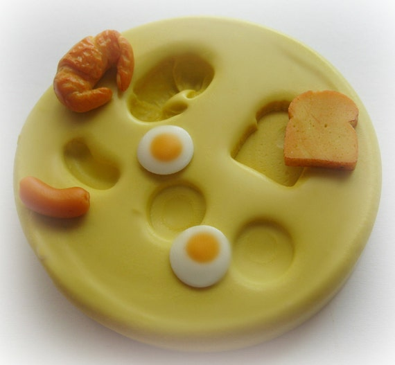 Toast Egg Mold Crescent Roll Sausage Mould Miniature Dollhouse Food