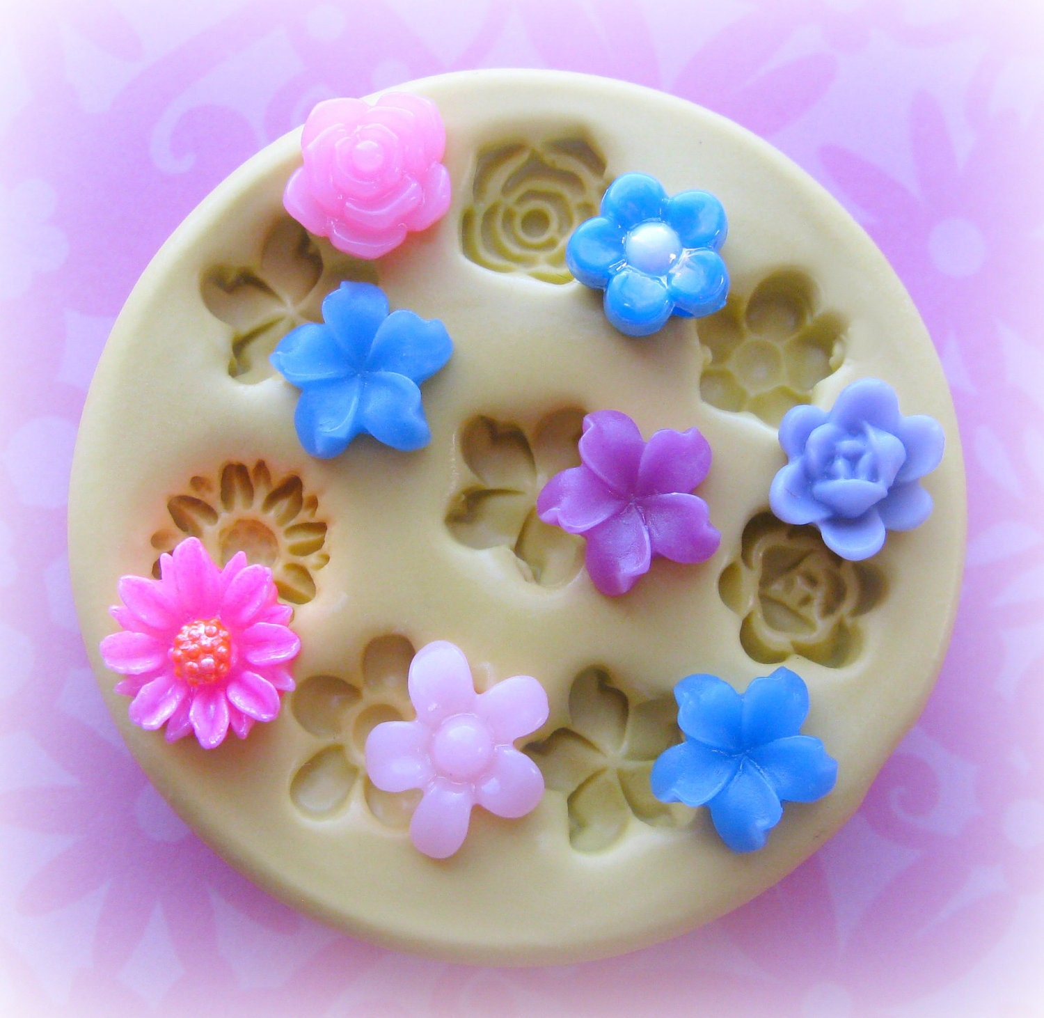 Tiny Flower Mold Daisy Rose Mold Flower Silicone by Molds4You