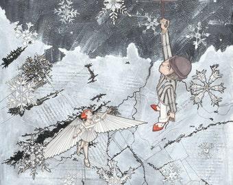 PRINT CLEARANCE-Ayden & Zoe in Snowfall from Season of the Dapper Men