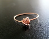 Forever Love Knot Ring in Rose Gold Vermeil