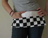 Small checkered half apron