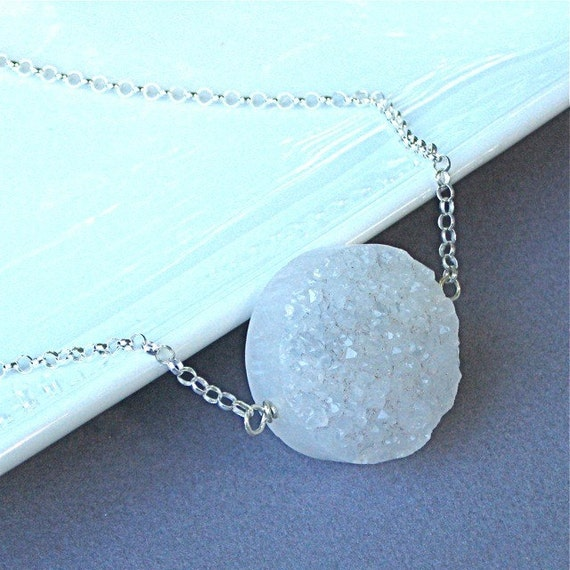 Quartz Druzy Crystal Necklace