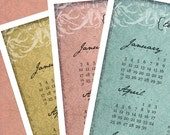 PDF Printable 2010 Year-at-a-Glance Calendar -French Inspired (3 colors)