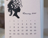 PDF printable 2010 mini calendar -Vintage Hats