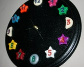 Moon Phases and Stars Clock - Full and Quarter Moons Glow in the Dark - On Sale