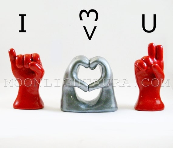 Quotes About Love: Items Similar To I Heart You In American Sign Language