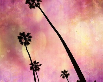 BUY 2 GET 1 FREE California Photography, Fpoe, Pop, Surreal, Kids Room, Girls, Magical, Palm Trees, Surreal, Purple, Wall Decor -Lavender