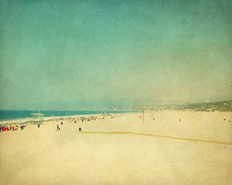 BUY 2 GET 1 FREE California Wall Art, Beach Photography, Summer, Retro, Ocean, Sand, Home Decor, Wall Decor - The Day We Went to the Beach