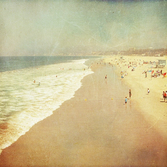 BUY 2 GET 1 FREE California Photography, Santa Monica, Travel, Beach Photo, Sand, Ocean, Summer -Santa Monica in a Polaroid  Fine Art Print