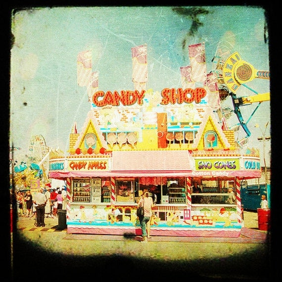 Carnival, Summer, Candy, TTV, Wall Decor, Kids Room, Pop - Candy Shop  - Fine Art Print-  Cyber Monday