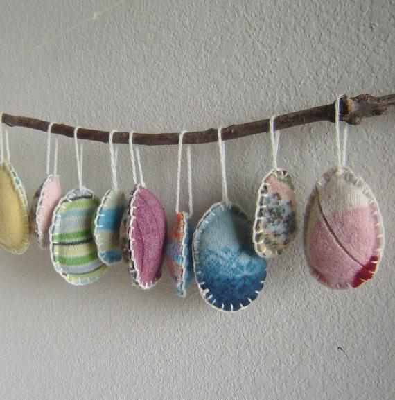 Easter Egg Ornaments Set of Ten