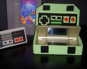 Nintendo controller DS Lite Case/ Catch all / Jewlery box - made in plastic canvas