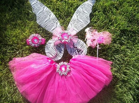 My Pretty Pixie Hot Pink n' Zebra Fairy Costume Set
