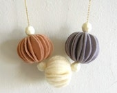 Reserved-Kuru Maru Felt ball necklace S size- Strawberry for eastmeetswest