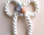 Bow Rope Pastel Beads Nautical  Necklace
