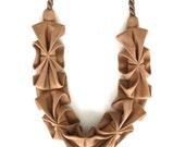 New Color -Origami Hana Rope Necklace - Cinnamon