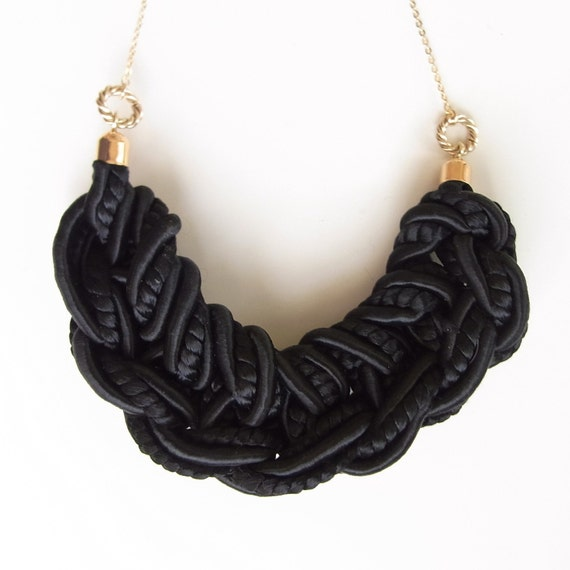 LAST ONE - Ami Rope smile Necklace - Black