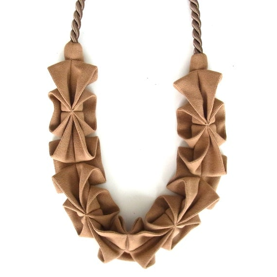 New Color -Origami Hana Rope Necklace - Cinnamon