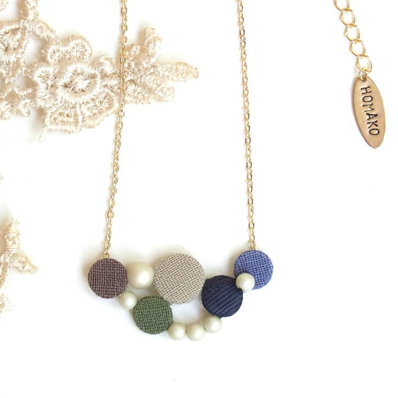 LAST ONE - Petite Buttons Necklace